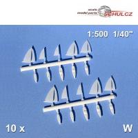 10 Segelboote 1:500