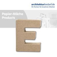 Buchstabe Papier-Mâché - E