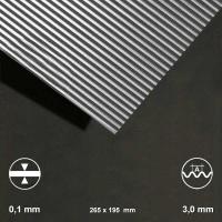 Aluminium-Wellblech, Welle 3,0 mm