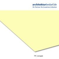 Tonzeichenpapier A4, 11 strohgelb