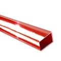 ASA Rectangular Tubes, ext. 4 x 2 mm, transparent red