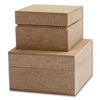 Schachteln aus MDF, quadratisch, 2 Stück
