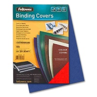 Fellowes Cover Sheets Leather Structure, blue