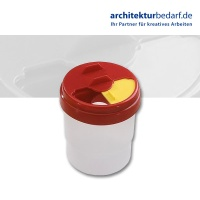 Wasserbecher, transparent, rot
