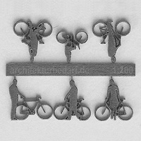 Bicycles with Cyclists, 1:200, grey