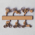 Bicycles Type 2, 1:200, lightbrown