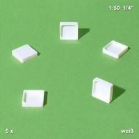 Duschbecken, 1:50, weiß, 5 Stück