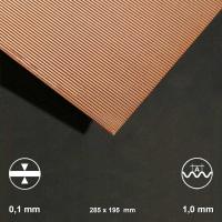 Kupfer-Wellblech, Welle 1,0 mm