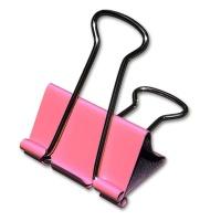 Fold Back Clips 25 mm, pink