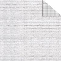 Model Making Cardboard Brick white