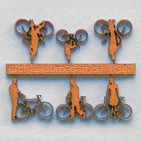 Bicycles with Cyclists, 1:200, orange