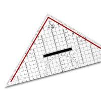 M+R Zeichendreieck 32 cm, mit Griff