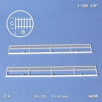 Balustrade, white, 1:100, 175 x 9 mm