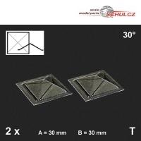 2 Oberlichter Pyramide 30°