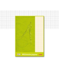 Graph Paper Pad A3, bordered, red lines