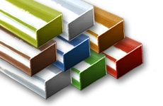 Rectangular Tubes Colored