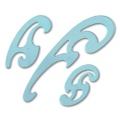 Burmester Kurvensatz transparent blau