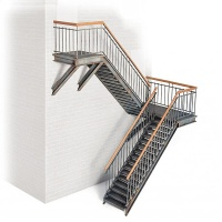 Metal Stair, double, Scale 1:35