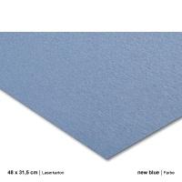 Laserkarton 48 x 63 cm, new blue