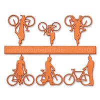 Bicycles with Cyclists, 1:100, orange