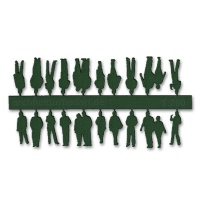 Figures, 1:200, dark green