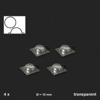 Oberlichter halbrund, transparent, 4 Stück