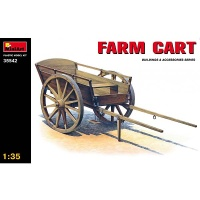Wooden Hand Cart, Scale 1:35