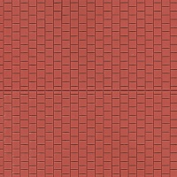 Sidewalk 100 x 200 mm red brown