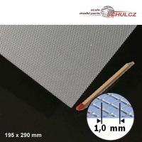 Streckmetall Aluminium, Raute 1 mm