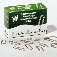Durable Paper Clips, coppered, sharp, 26 mm
