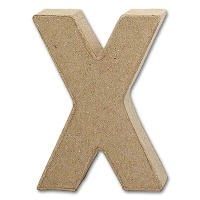 Letter Papier Mâché - X