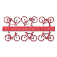 Bicycles, 1:100, lightred