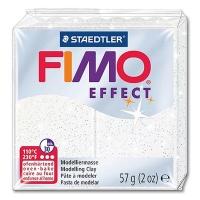 Fimo Effect Glitterfarbe 052 weiß