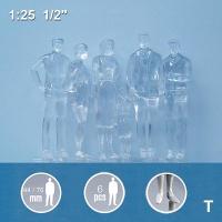 Figures 1:25 standing, transparent