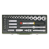 Socket Set for Powerful Mechanical Work with 1/2 Ratchet