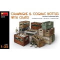 Cognac- and Champagne Bottles, Scale 1:35