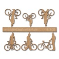 Bicycles with Cyclists, 1:100, lightbrown