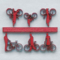 Bicycles with Cyclists, 1:200, red