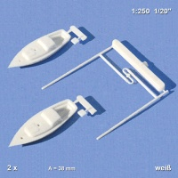 Segelboote weiß, 38 mm, 1:250