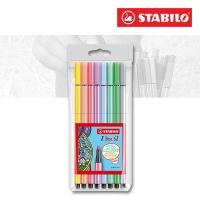 Stabilo Pen 68 Etui mit 8 Pastellfarben