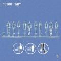 Modellfiguren 1:100 stehend, transparent