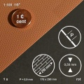 Wall Sheet, embossed, brick red, 1:87 / 1:100