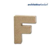 Buchstabe Papier-Mâché - F
