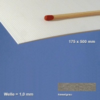 Corrugated Paperboard, dark grey 1 mm Flute