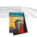 Fellowes Cover Sheets Leather Structure, black