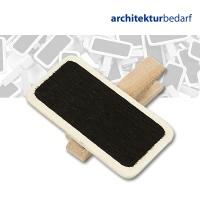 Beschriftungstafel mit Holzklammer