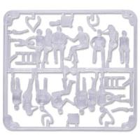 3D Figures 1:50 sitting, transparent