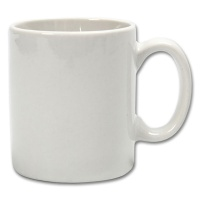 Cup, cylindrical, white