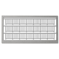 Railings 1:100, Type 1, light grey
