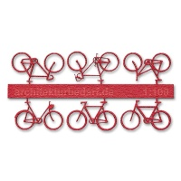 Bicycles, 1:100, red